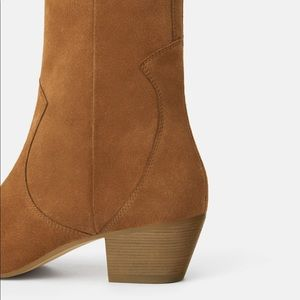 Zara Shoes - NWT's Zara Leather Heeled Cowboy Ankle Boot 7.5 38